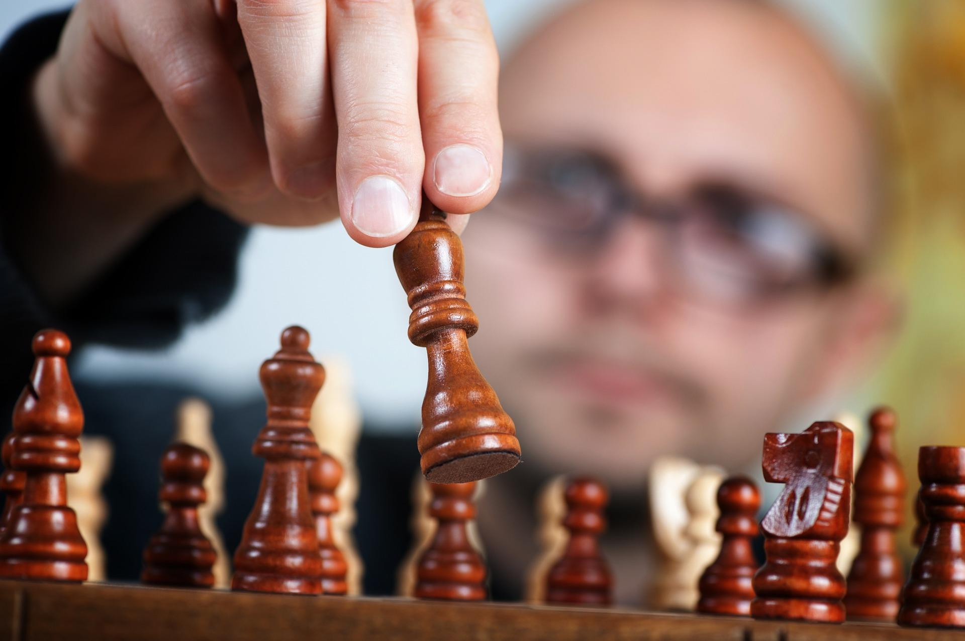 Giocatore di scacchi di successo